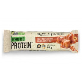 IRON VEGAN Sprouted Protein Bars Salted Caramel 64g bar
