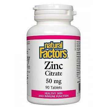 NATURAL FACTORS ZINC CITRATE 50MG 90 Tablets