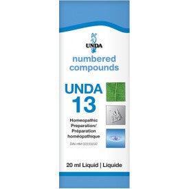 UNDA Numbered Compounds UNDA 13 Homeopathic Preparation 20 mL