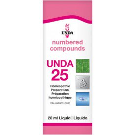 UNDA Numbered Compounds UNDA 25 Homeopathic Preparation 20 mL