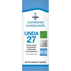 UNDA Numbered Compounds UNDA 27 Homeopathic Preparation 20 mL