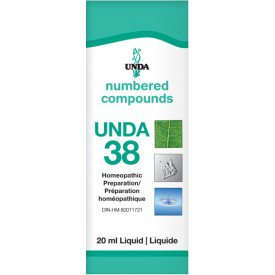 UNDA Numbered Compounds UNDA 38 Homeopathic Preparation 20 mL