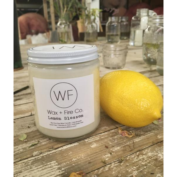 WAX + FIRE CO. Lemon Blossom Soy Candle 4oz.