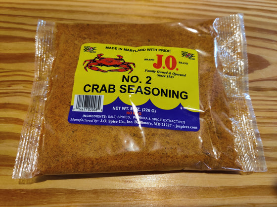 J.O. no. 2 Crab Seasoning - 8 oz. bag