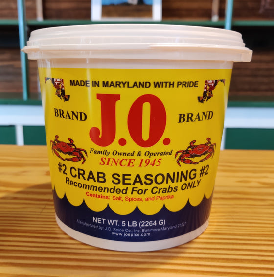 J.O. no. 2 Crab Seasoning - 5 lb. Bucket