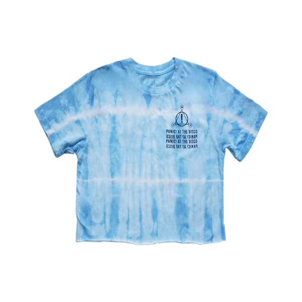 Blue Tie Dye Wave Logo Crop