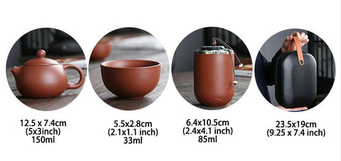 YiXing ZiSha Clay Travel Teaset