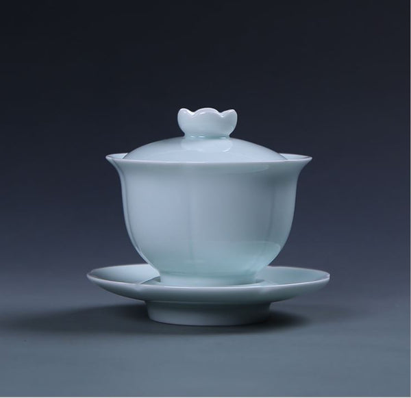 gaiwan tea set blue
