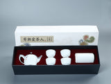 Chinese Traditional Teapot Kongfu Tea Set (1 teapot,4 cups, 1 tea tin)