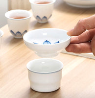 Traditional Chinese Gaiwan Tea Set Ceramic KongFu Porcelain gaiwan set