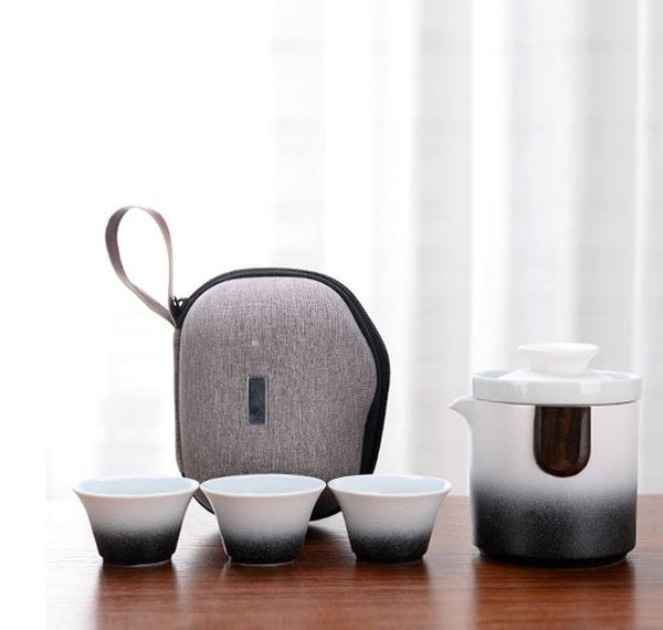 New Style Travel Kongfu Tea Set Package