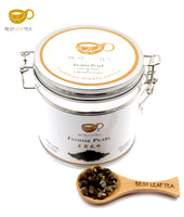 jasmine pearls green tea with nice tea tin