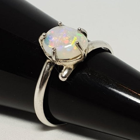 Coober Pedy Crystal Opal Ring 060A