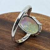 Coober Pedy Galaxy Crystal Opal Ring 060N