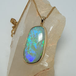 Ocean green blue solid opal from Coober Pedy 8 mile field! 044E