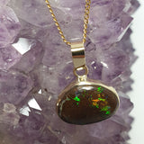 Eye catching! 9ct Gold Boulder Opal Pendant 008V1