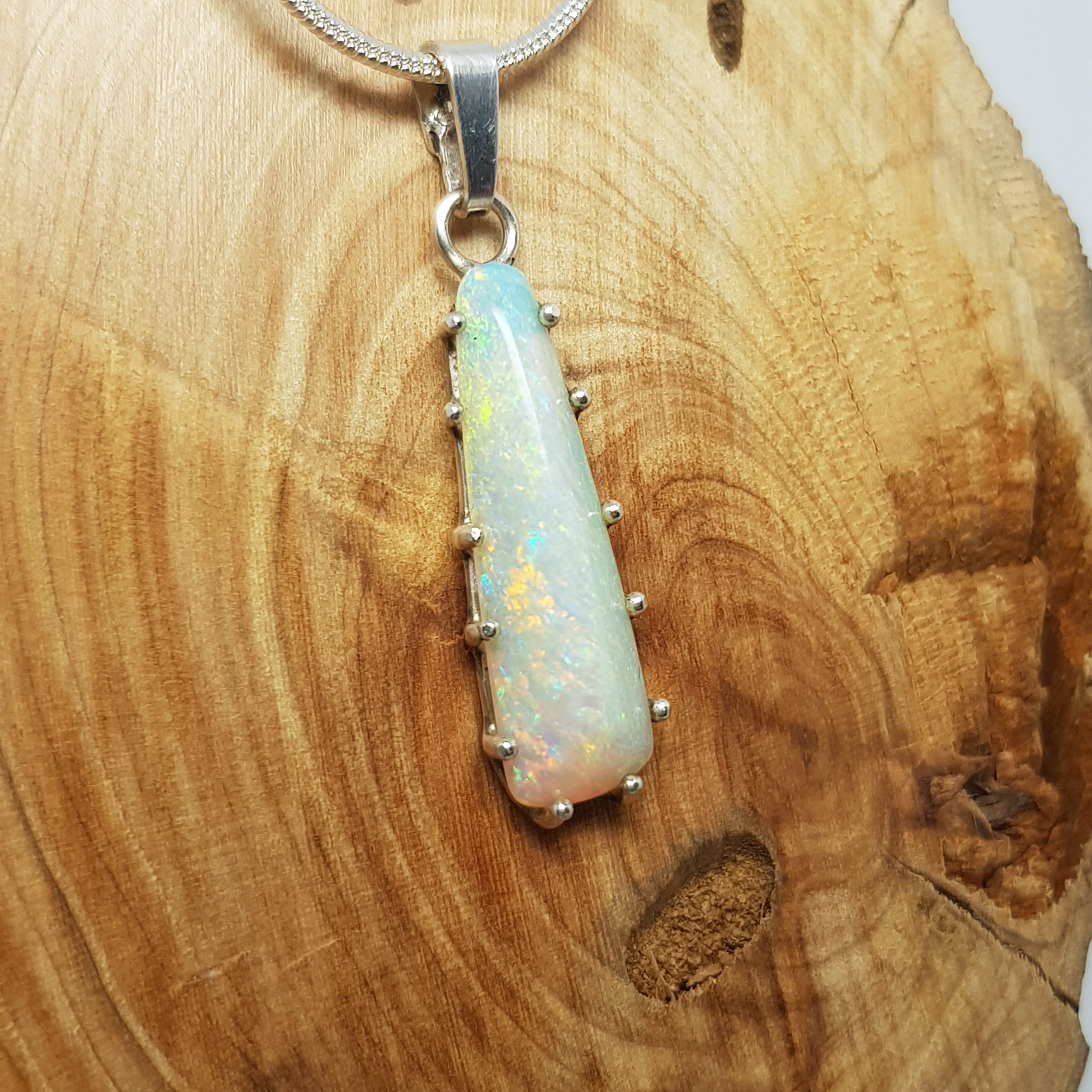 Coober Pedy Crystal Opal Pendant 060M