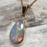 Darker toned bright flashy Opal Pendant 056F