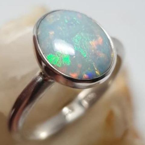 Reduced price (read description) Coober Pedy Opal Ring 056J1