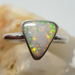 Coober Pedy Solid Opal Ring Inlay 056L1
