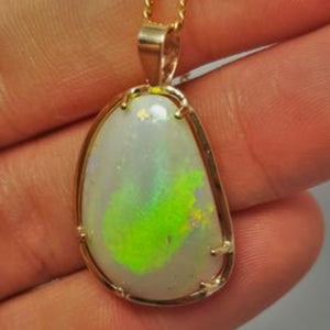 Opalised Shell Pendant 067A