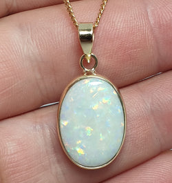 Coober Pedy solid white opal set in 9ct gold and silver 066A