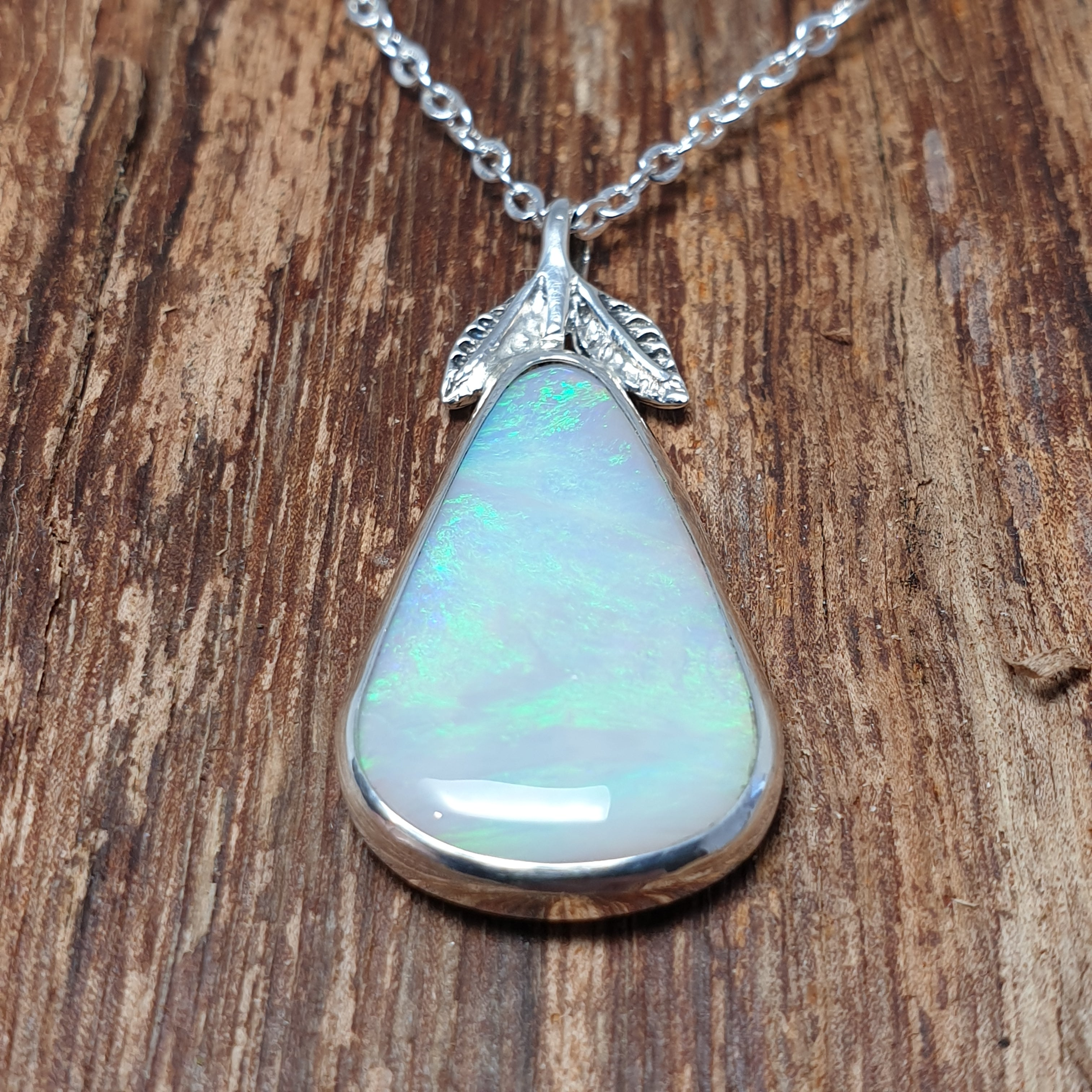 Australian Opal Pendant mined from Coober Pedy 056R