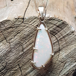 White opal pendant in a 9ct gold handmade setting 040S