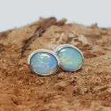 Coober Pedy Silver Opal Earrings 067Q