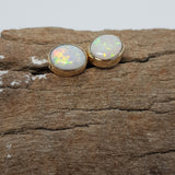 9k Gold Coober Pedy Opal Earrings 076D