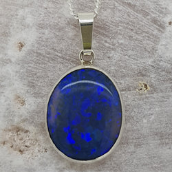 Lightning Ridge Black Opal Pendant 068B
