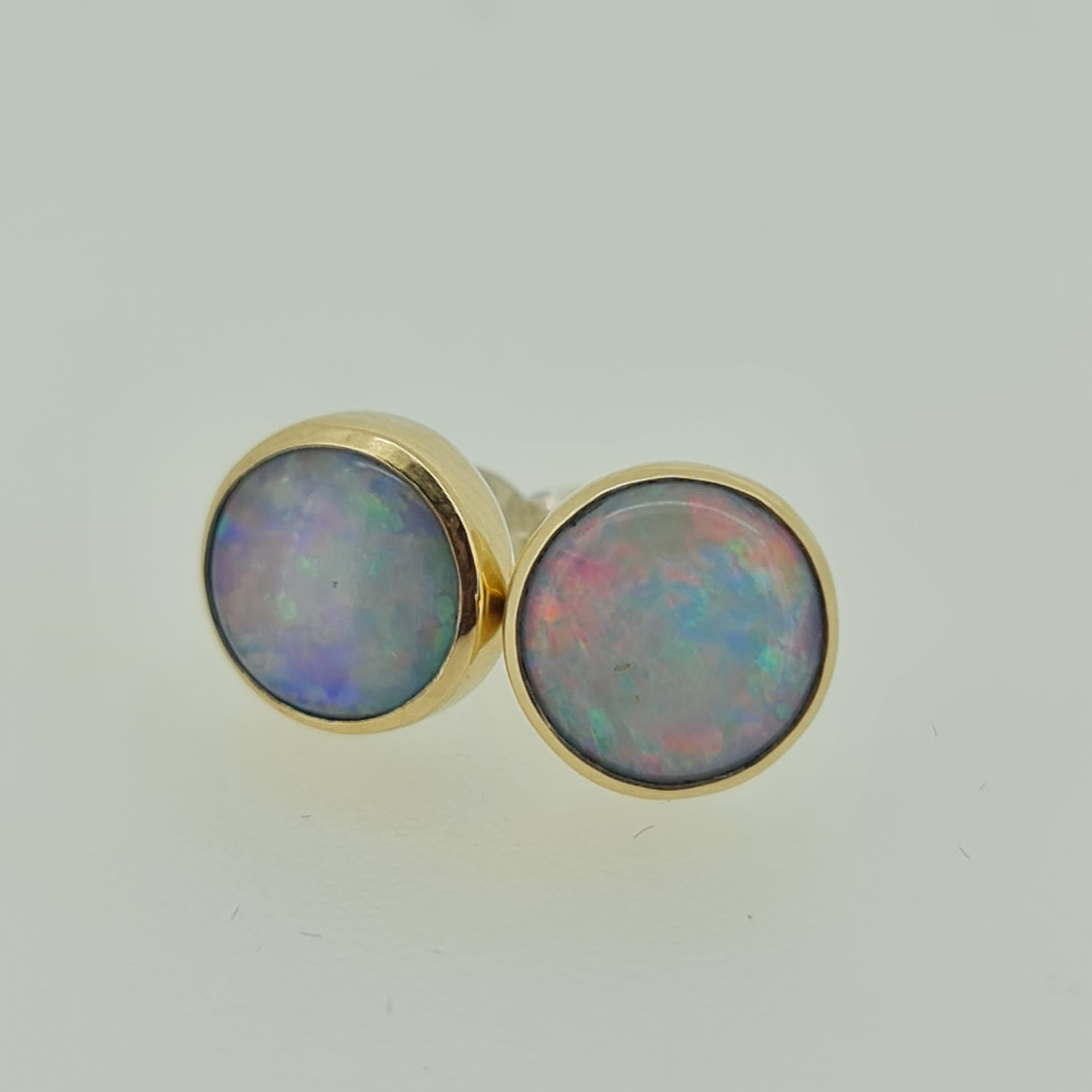 Coober Pedy Crystal Opal Earrings 060A3
