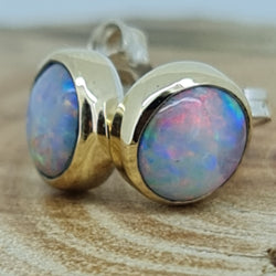 Coober Pedy Crystal Opal Earrings 060A4