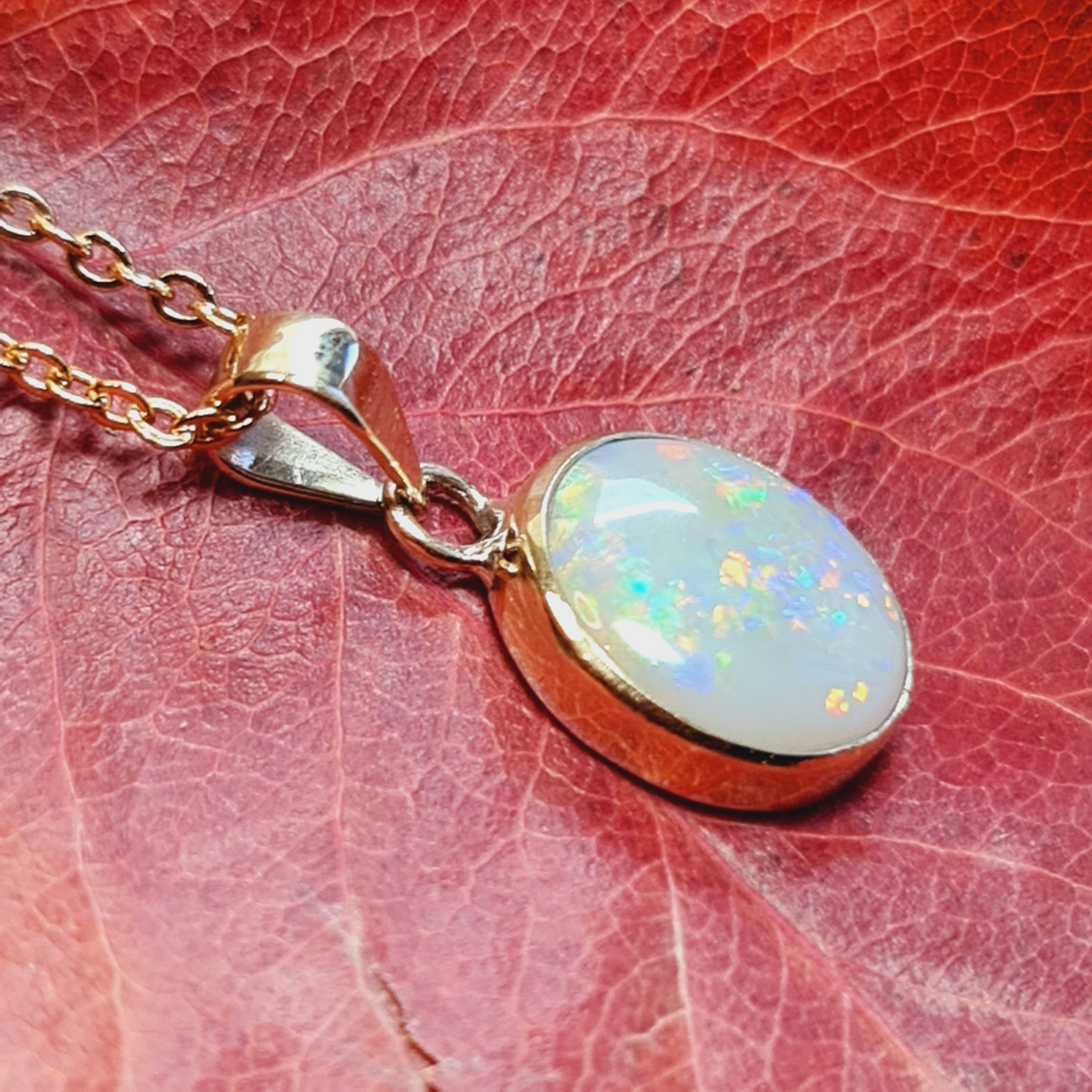 18ct Gold Coober Pedy Opal Pendant 075A