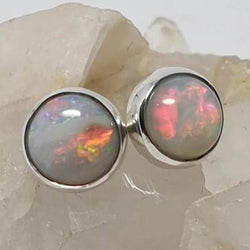 Coober Pedy Rainbow Opal Earrings 060Y