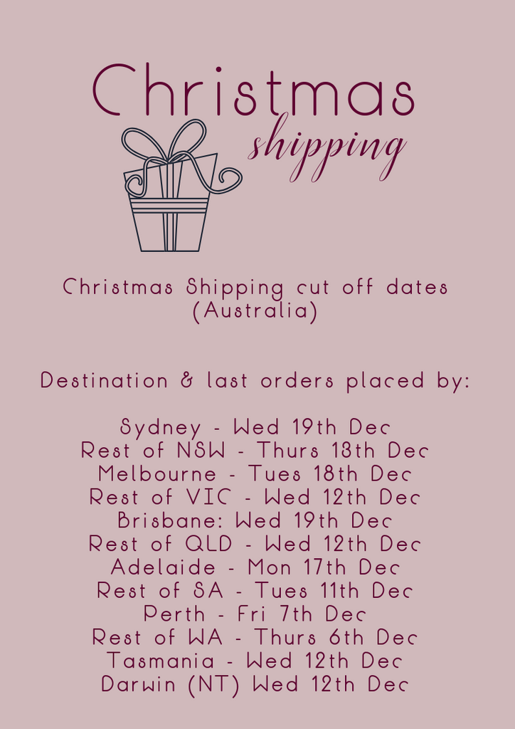 Petit Barcelona Christmas Shipping cut off dates 2018