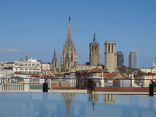Hotel Bagues El Regulador restaurant Barcelona Les Ramblas Petit Barcelona review plates terrace pool and views