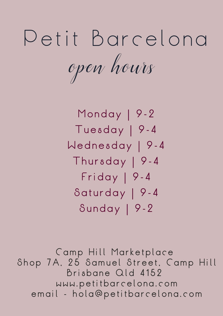 Petit Barcelona store open hours and location address