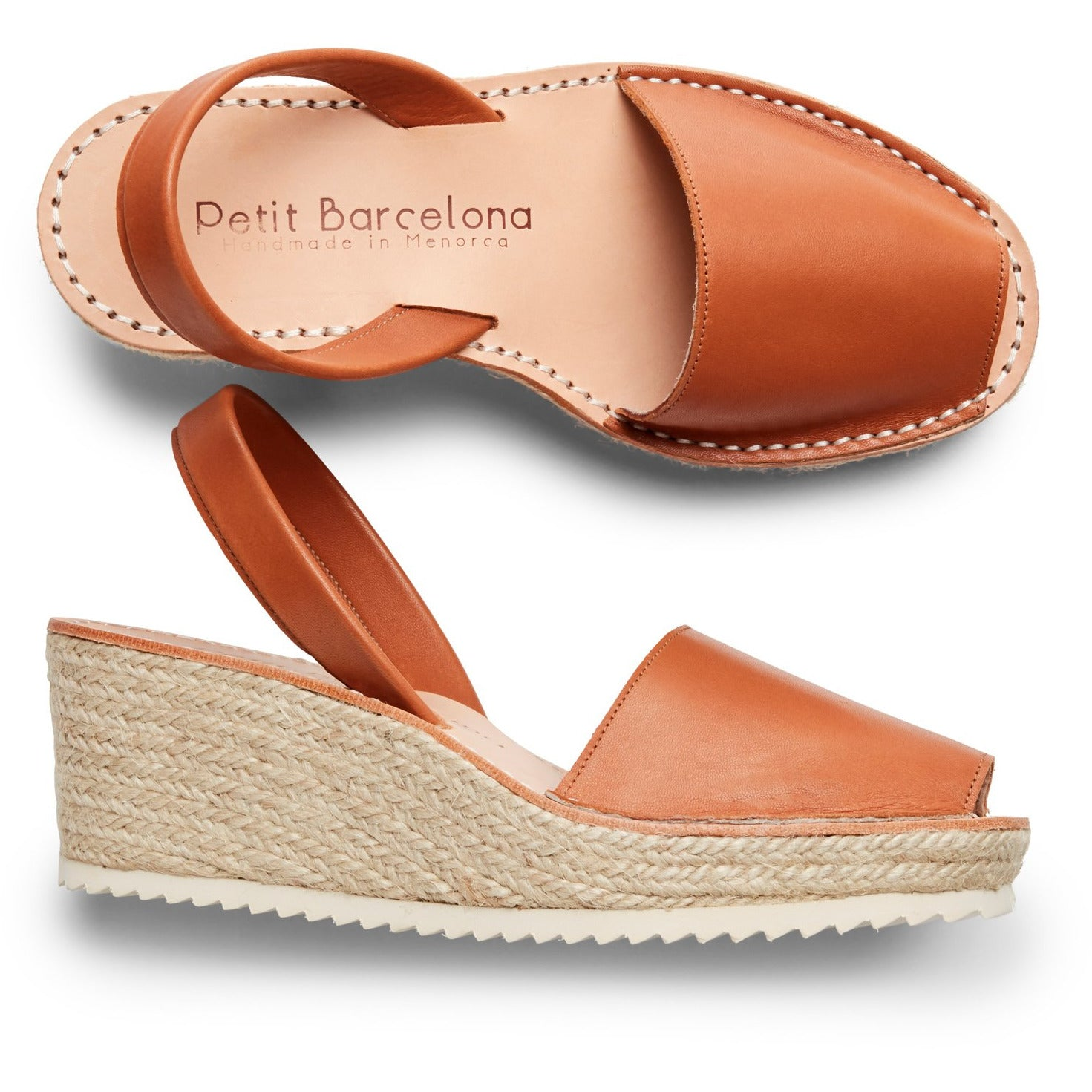 Wedges | Honey Leather - PetitBarcelona