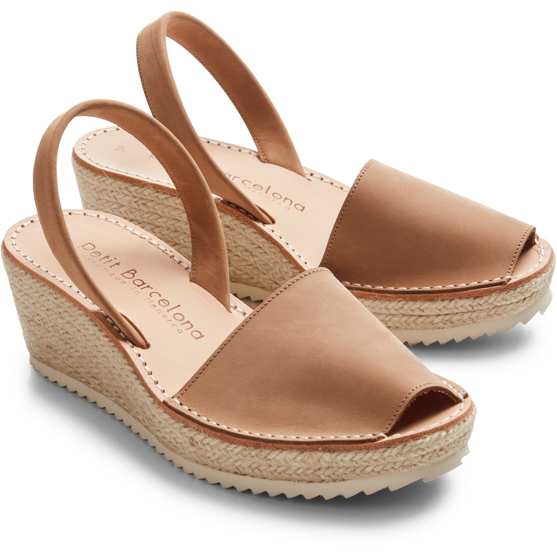 Wedges | Tan Nubuck - PetitBarcelona