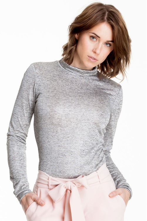 Silver turtleneck