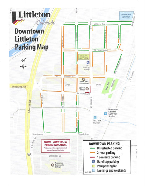Downtown Littleton Parking Map