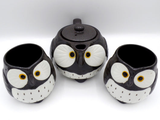 Owl Tea Set black
