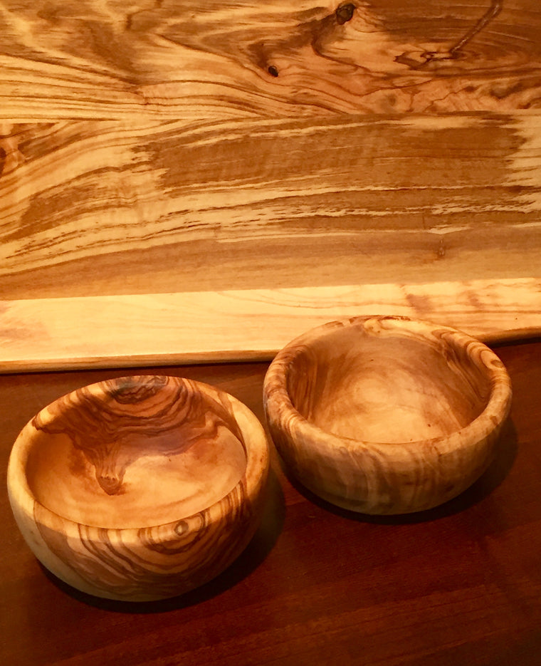 Natural Olive Wood Dipping Bowls