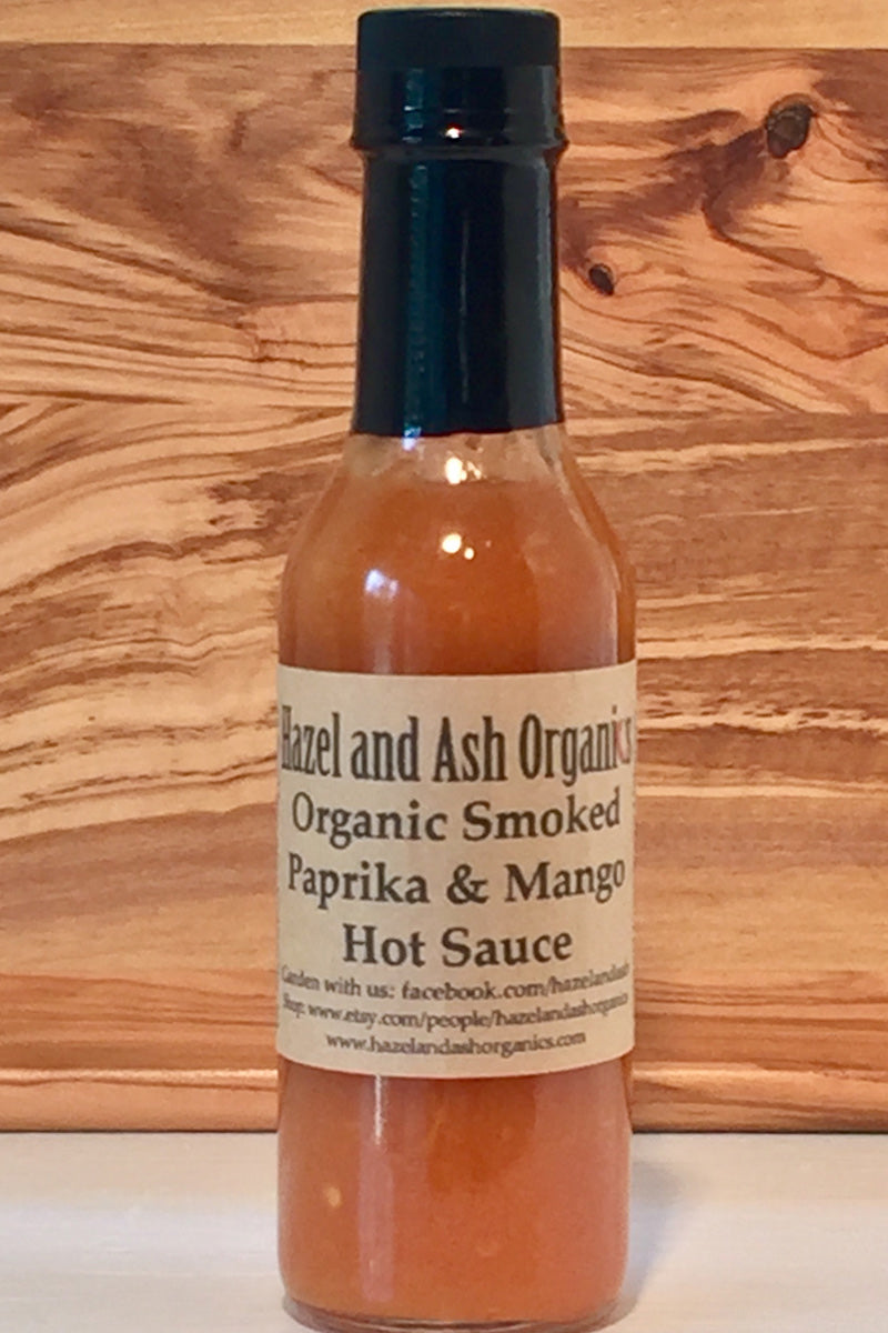 Hazel and Ash Organic Smoked Paprika & Mango Hot Sauce