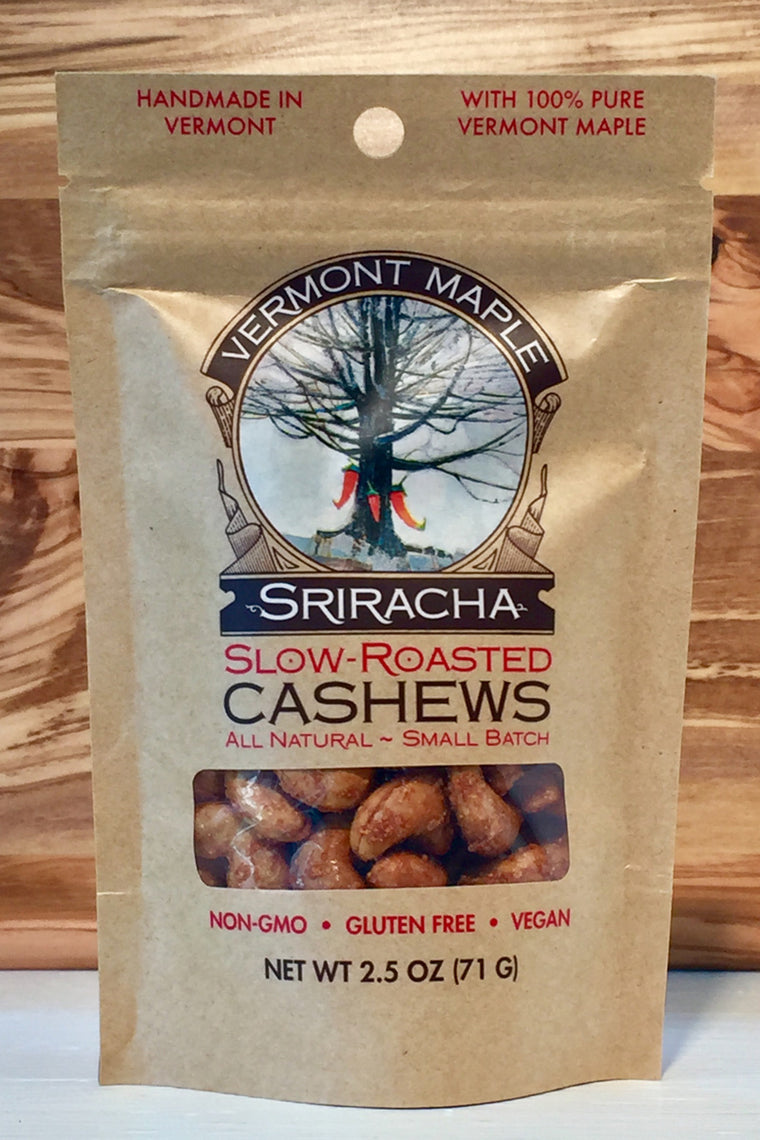 Vermont Maple Slow-Roasted Sriracha Cashews
