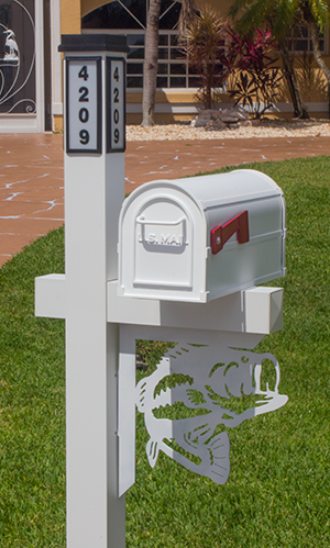 Decorative Mailbox Bracket - Fish Option 2