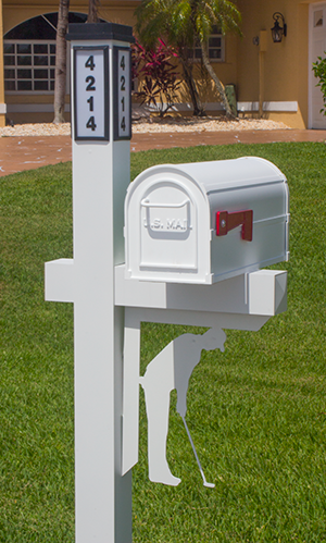 Decorative Mailbox Bracket - Golf
