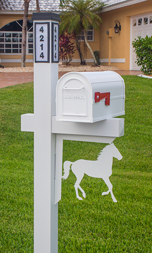 Decorative Mailbox Bracket - Horse