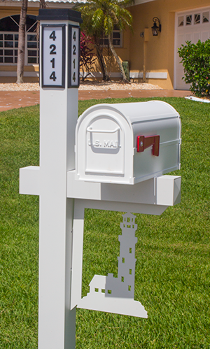 Decorative Mailbox Bracket- Lighthouse